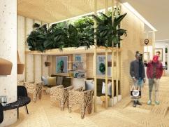 Coffee café: seating area